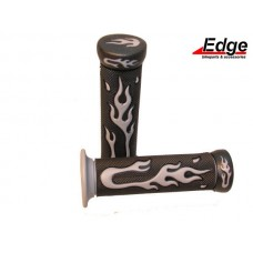 Handvatset Flame zwart/grijs Edge