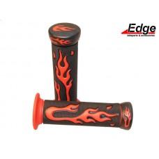 Handvatset Flame zwart/rood
