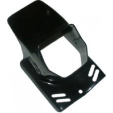 Koplampspoiler Gilera Citta/Puch Maxi zwart vierkant