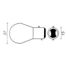 Lamp 12 V - 21/5 W BAY15D