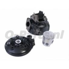 Cilinder Minarelli Horiz. LC 70 cc DR inclusief cilinderkop