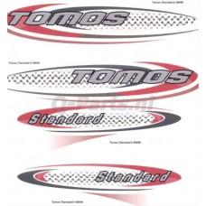 Stickerset Tomos Standard rood/zwart/zilver