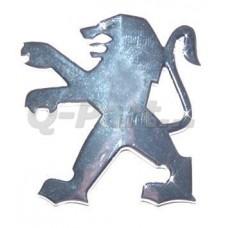 Sticker Peugeot Leeuw chroom dik