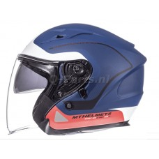 Helm MT Avenue Crossroad blauw-rood small55-56