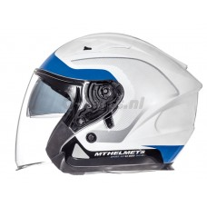Helm MT Avenue Crossroad wit-blauw medium57-58