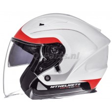 Helm MT Avenue Crossroad wit-rood large59-60