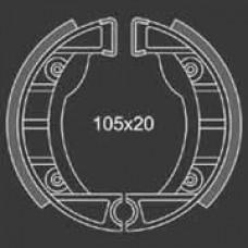 Remsegment Vespa Ciao/Si Sterwiel voor Tomos A3 voor en acht