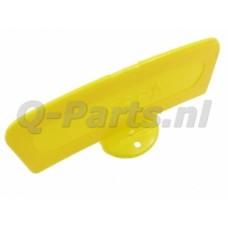 Gele plaat met voetje Vespa