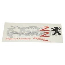 Stickerset Peugeot Speedfight zilver/rood 5 delig