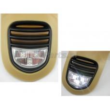 Claxonrooster + LED Vespa LX 2012 Zwart
