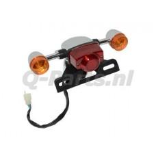 Achterlicht compl. + RAW  China retro scooter  oranje glazen