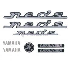 Stickerset Yamaha Neos zwart 7 delig