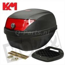 Topkoffer+slede KXM RR 28 liter  zwart 29*38.5*38.5cm