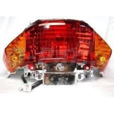 Achterlicht compl. China scooter/V- Clic oranje raw glazen