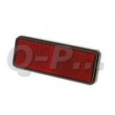 Reflector met draadeind rood rechthoekig28x94mm