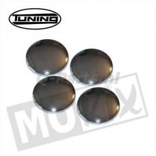 Afdekkapje voor M8 inbus chroom 4 stuks