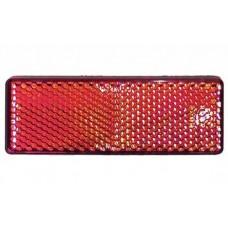 Plakreflector rood rechthoekig85.5 x 31.5 mm