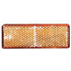 Plakreflector oranje rechthoekig85.5 x 31.5 mm