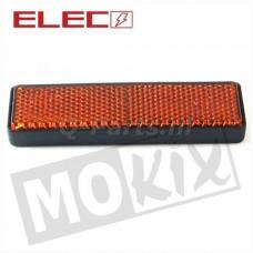 Plakreflector oranje rechthoekig95 x 28 mm