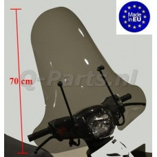 Windscherm Piaggio Zip 2000-> hoog SMOKE (Made in EU)