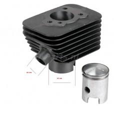 Cilinder Vespa 50cc Vespa Ciao / Gilera Citta 25 km/h 'smalle voet' 38.2-10 (elektronische ontsteking)