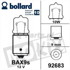 Lamp 12V - 10W BAX 9S Oranje