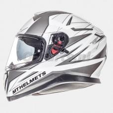 Helm MT Thunder 3 SV Effect wit/zilver medium 57-58