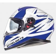 Helm MT Thunder 3 SV Effect wit/blauw medium 57-58