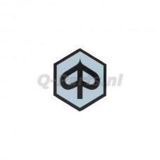 Embleem/logo Piaggio 6 kant grijs/zwart