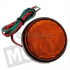 Reflector rond + LED licht oranje 58 mm CE