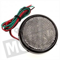 Reflector rond + LED licht blank 58 mm CE