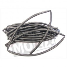 Kabel Tule 4 mm zwart 5 mtr.