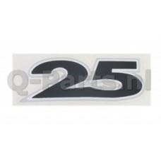 """Embleem """"25""""  (Zip 2006 4T 3D links/rechts)"""
