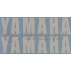 Stickerset Yamaha woord wit 2 delig