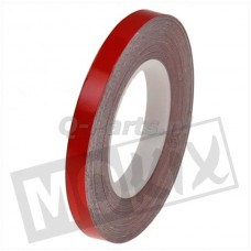 Velgstrip- wiel reflectie tape rood 7 mm breed, 9 meter lang