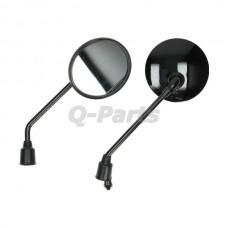 Spiegelset China LX/ AGM VX50 zwart glans rond