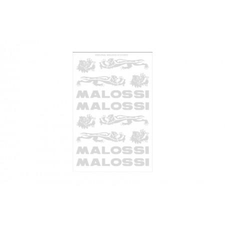 Stickerset chroom/grijs Malossi 3314465T 3-delig