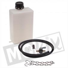 Benzinetank voor proefstand 1.5 ltr. inclusief kraan en slang