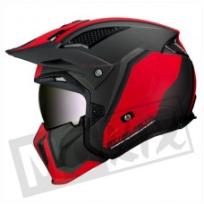 Helm MT Streetfighter SV twin mat rood