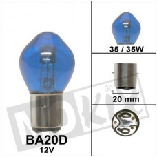 Lamp 12 V - 35/35 W BA20D blauw