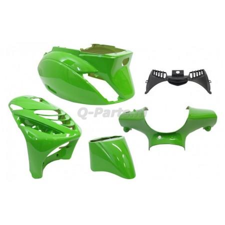 Kappenset Piaggio Zip 2000 met SP voorscherm Kawasaki groen 5 delig Edge