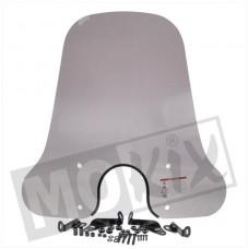 Windscherm AGM VX50/Turbho RL50/BTC Riva (ronde koplamp) hoog 67 cm smoke KXM