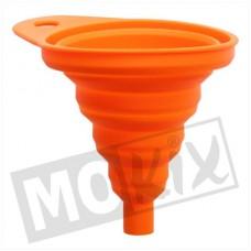 Trechter inschuifbaar 80mm ( 55>130mm) rubber