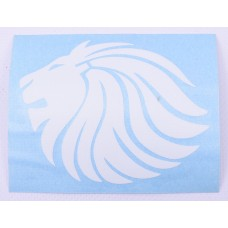 98.072400 STICKER LION 9CM WIT TRIBEL