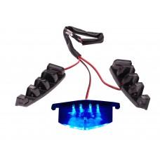 Verlichting Grill LED Blauw   Piaggio Zip SP