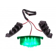 Verlichting Grill LED Groen   Piaggio Zip SP
