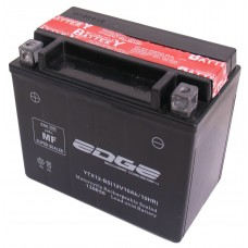 Accu Edge YTX-12 BS (15 x 8,7 x 13cm) onderhoudsvrij, inclusief zuurpakket
