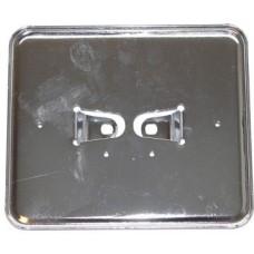 Kentekenplaathouder liggend 145x125mm metaal chroom