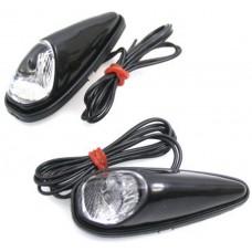 Lamp led set plak lamp wit/ huis zwart