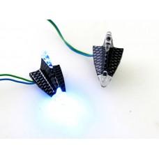 Lamp led set delta plak lamp blauw/ huis carbon